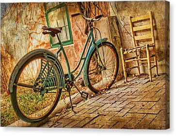 Back Patio Canvas Print by Nikolyn McDonald