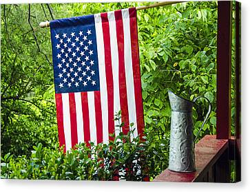 Back Porch Americana Canvas Print by Carolyn Marshall