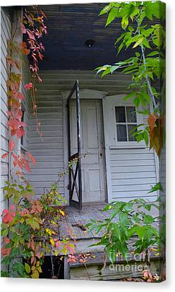 Back Porch Door Canvas Print by Jill Battaglia