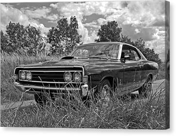 Old Country Roads Canvas Print - Back Road Find - Ford Torino Cobra Jet 1969 by Gill Billington