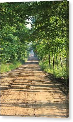 Back Road Morning Canvas Print