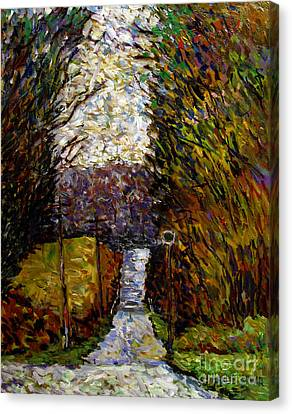 Back Road To Hilly House Canvas Print by Charlie Spear
