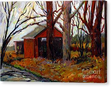 Back Roads Canvas Print by Charlie Spear