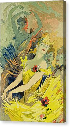 Behind The Scenes Canvas Print - Back-stage At The Opera by Jules Cheret