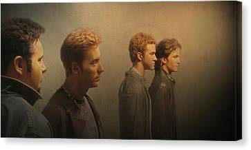 Canvas Print featuring the photograph Back Stage With Nsync by David Dehner