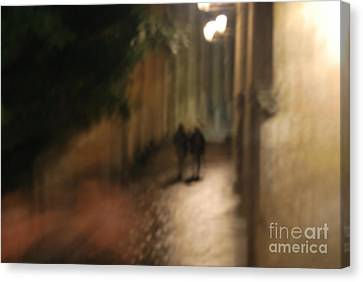 Back Street Of Barcelona Cathedral Canvas Print