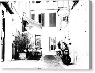 Back Streets Of A French Town Canvas Print by Georgia Fowler