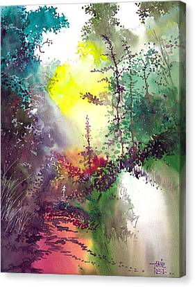 Back To Jungle Canvas Print by Anil Nene