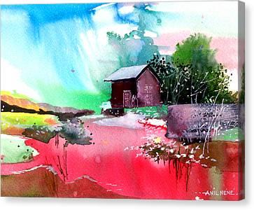 Back To Pavilion Canvas Print by Anil Nene