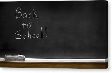 Back To School Chalkboard Canvas Print by Lane Erickson