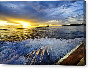 Back To The Boat Canvas Print by Terry Cosgrave