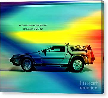 Back To The Future Canvas Print by Marvin Blaine