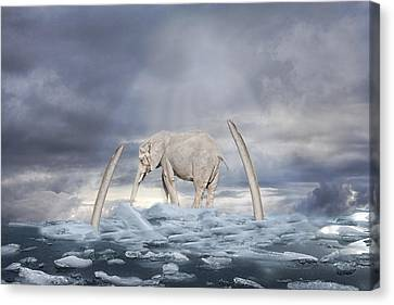 Canvas Print featuring the digital art Back To The Ice Age by Angel Jesus De la Fuente