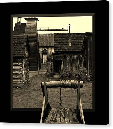 Back Yard Gold Mine Canvas Print by Barbara St Jean