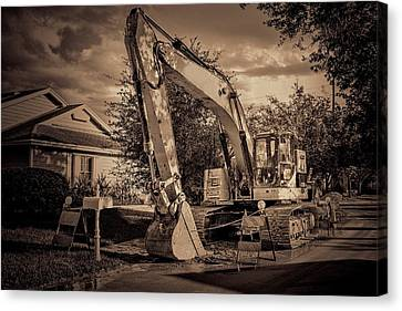 Backhoe-1 Canvas Print by Rudy Umans