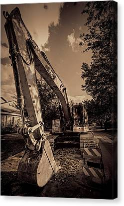 Backhoe-2 Canvas Print by Rudy Umans