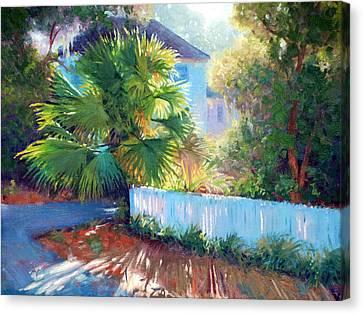 Backlit Palmetto Canvas Print