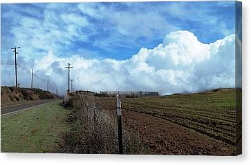Backroads- Telephone Poles- And Barbed Wire Fences Canvas Print by Glenn McCarthy Art and Photography