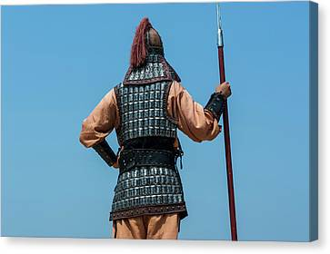 Backside Of Traditional Dressed Guard Canvas Print by Michael Runkel