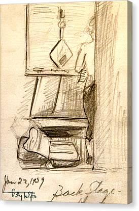 Backstage-1939- Wilmington De. Canvas Print