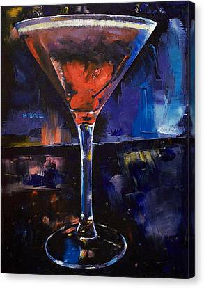 Backstage Martini Canvas Print by Michael Creese