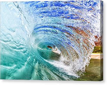 Surf Canvas Print - Backwash Flare by Gregg  Daniels