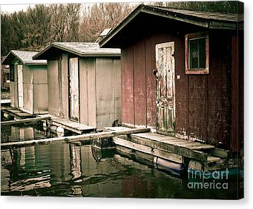 Canvas Print featuring the photograph Backwater Trio by Kari Yearous