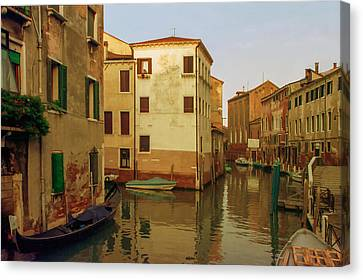 Backwaters Of  Of Venice Canvas Print