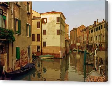 Italian Landscape Canvas Print - Backwaters Of  Of Venice by Cliff Wassmann