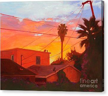 backyard in East LA Canvas Print by Andrew Danielsen