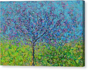 Purple Tree Canvas Print by Kat Griffin
