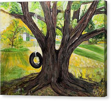 Backyard Tree Memories Canvas Print by Susan Abrams