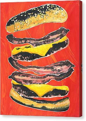 Bacon Cheese Burger Canvas Print