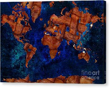Snack Canvas Print - Bacon World 3 by Andee Design