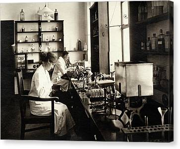 Bacteriology Laboratory Canvas Print by American Philosophical Society