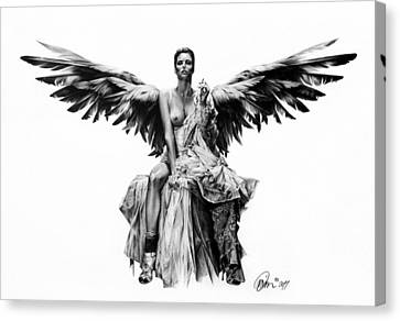 Bad Angel Canvas Print by Mario Pichler