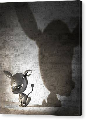 Bad Dog Canvas Print by Vanessa Bates