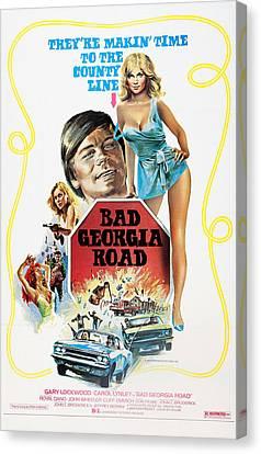 Stop Sign Canvas Print - Bad Georgia Road, L-r Gary Lockwood by Everett