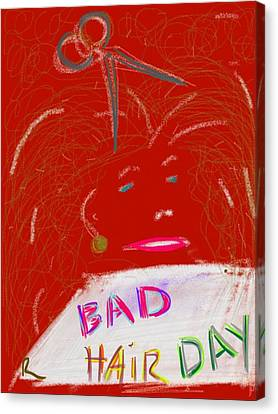 Bad Hair Day Canvas Print by Richard Fruge