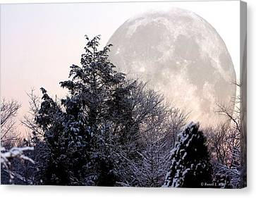 Bad Moon Risin' Canvas Print by Russell  King