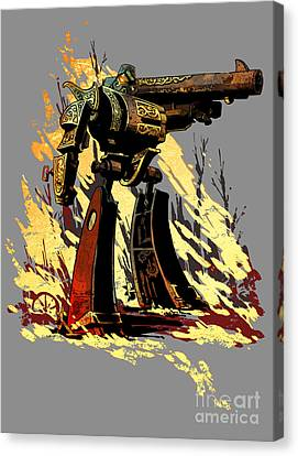 Bad Robot Canvas Print by Brian Kesinger