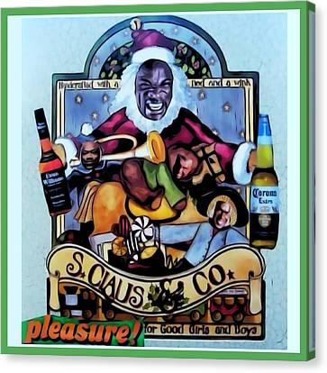Canvas Print featuring the digital art Bad Santa by Lisa Piper