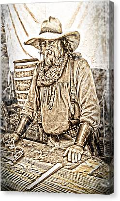 Bad Times Pilgrim Gotta Be Ready Canvas Print by Randall Branham