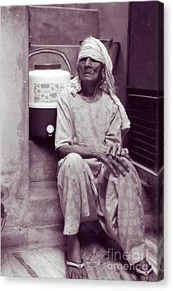 Canvas Print featuring the photograph Baddi Amma Old Grandmother by Mukta Gupta