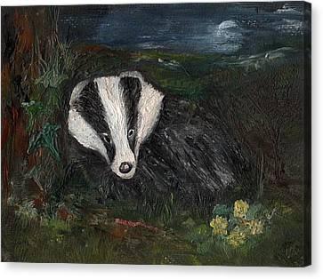 Badger Canvas Print by Carol Rowland