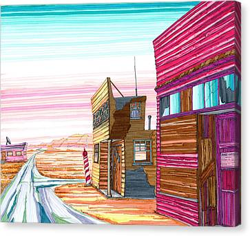 Badlands Barbershop Canvas Print by Scott Kirby