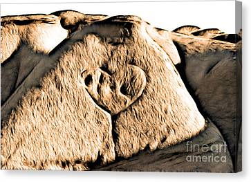 Badlands Love Canvas Print