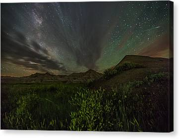 Badlands Meteor Canvas Print by Aaron J Groen