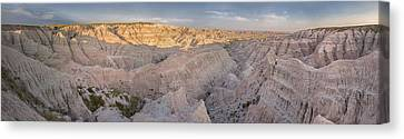 Badlands National Park Color Panoramic Canvas Print by Adam Romanowicz