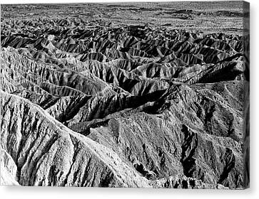 Canvas Print featuring the photograph Badlands Of Great American Southwest - 2 by Photography  By Sai